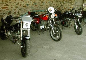Les motos du P53 pour le Dark Dog Moto Tour 2006