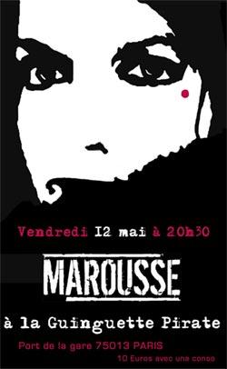 Marousse en concert à la Guinguette Pirate (Paris)